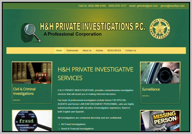 Web Site - H and H PI