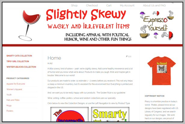 Web Site - Slightly Skewy